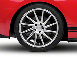 Niche Surge Silver Machined Directional Wheel - Driver Side - 20x10 (2015 All)