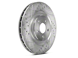 Power Stop Evolution Cross-Drilled & Slotted Rotors - Front Pair (11-14 GT Brembo, 12-13 BOSS, 07-12 GT500)