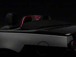 Laser Engraved Wind Deflector w/ Illumination - Running Pony (11-14 Coupe/Convertible)