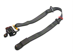 Ford Front Seat Belt Assembly w/ Retractor - Dark Charcoal Left Side (00-Mid 02 Coupe)