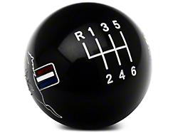 Modern Billet Retro Style 6-Speed Shift Knob w/ Tri-Bar Pony Logo - Black (11-14 GT, V6)