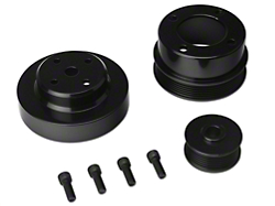 SR Performance Underdrive Pulleys - Black Aluminum (86-93 5.0L)