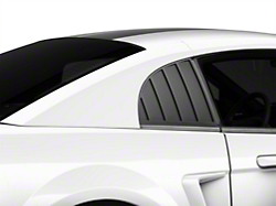 MMD Quarter Window Louvers - Matte Black (99-04 GT, V6, Cobra Coupe)