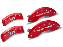 MGP Red Caliper Covers w/ GT Logo - Front & Rear (99-04 GT, V6)