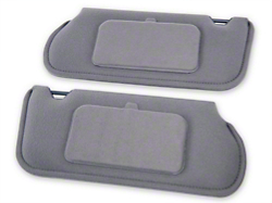 TMI Cloth Sun Visors w/ Mirrors- Smoke Gray (87-89 Coupe/Hatchback)