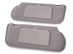 TMI Cloth Sun Visors w/ Mirrors- Coupe/Hatchback - Titanium Gray (90-92 All)