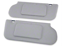 TMI Vinyl Sun Visors w/ Mirrors- Smoke Gray (87-89 T-Top/Sunroof)