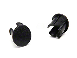 Arm Rest Pad Plugs - Black (87-93 All)