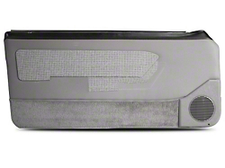 Titanium Gray Door Panels w/ Power Windows & Carpeting - Coupe, Hatchback (87-93 All)