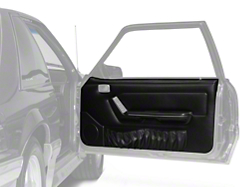 Black Door Panels w/ Power Windows & Map Pockets - Coupe, Hatchback (87-93 All)