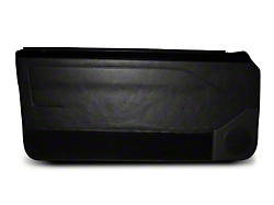 Black Door Panels w/ Manual Windows & Carpeting - Coupe, Hatchback (87-93 All)