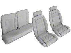 Titanium Gray Front & Rear Sport Seat Upholstery - Hatchback (90-91 All)