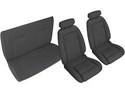 Black Front & Rear Sport Seat Upholstery - Convertible (90-91 All)
