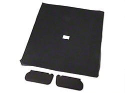Cloth Sunvisor And Headliner Kit - Black (85-91 Coupe)