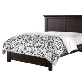 Gray Floral & Bird Duvet Cover