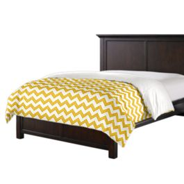 Bright Yellow Chevron Duvet Cover