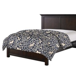 Navy Blue Animal Motif Duvet Cover