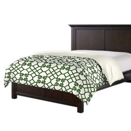Asian Green Trellis Duvet Cover
