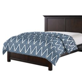 Tribal Navy Blue Chevron Duvet Cover