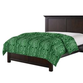 Marbled Green Malachite Duvet Cover