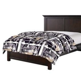 Black & White Brushstrokes Duvet Cover