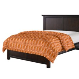 Burnt Orange Diamond Duvet Cover