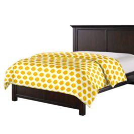 Bright Yellow Dot Duvet Cover