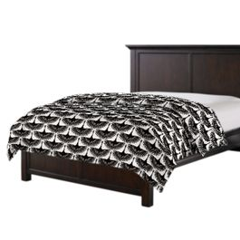 Flocked Black & White Bird Duvet Cover