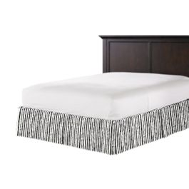 Black & White Bamboo Bed Skirt with Pleats