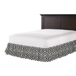 Black & White Trellis Ruffle Bed Skirt