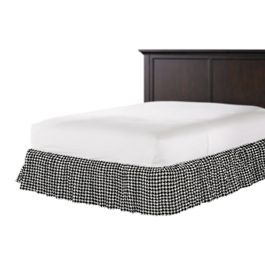 Black & White Houndstooth Ruffle Bed Skirt