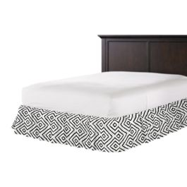 Black & White Diamond Ruffle Bed Skirt