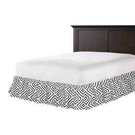 Black & White Diamond Ruffle Bed Skirt