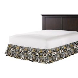 Gray & Orange Ikat Ruffle Bed Skirt