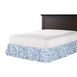 Blue & White Net Ruffle Bed Skirt