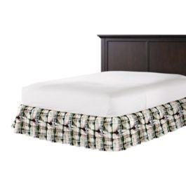 Black & White Shibori Ruffle Bed Skirt