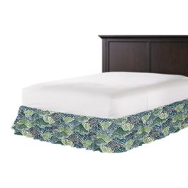 Green Hillside Floral Ruffle Bed Skirt