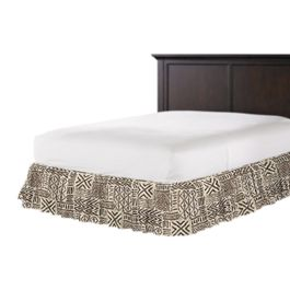 Taupe Tribal Ruffle Bed Skirt