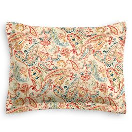 Multicolor Red Paisley Sham