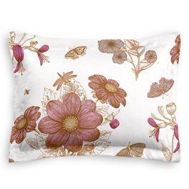 Sketched Pink Floral Sham