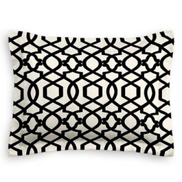 Black & White Trellis Sham