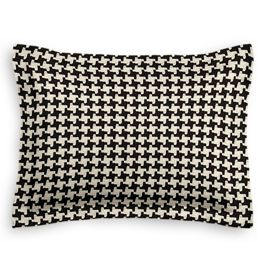Black & White Houndstooth Sham