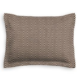 Knitted Brown Chevron Sham