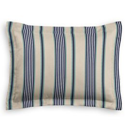 Gray, Teal & Blue Stripe Sham