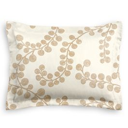 Gold Metallic Swirl Sham