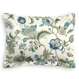 Jacobean Blue Floral Sham