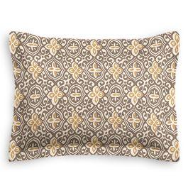 Tan & Gold Moroccan Mosaic Sham
