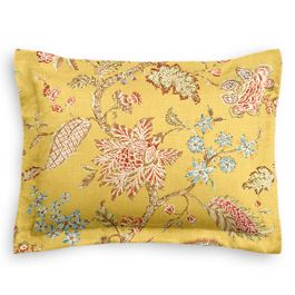 Delicate Yellow Floral Sham