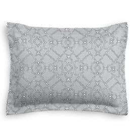 Cool Gray Trellis Scroll Sham