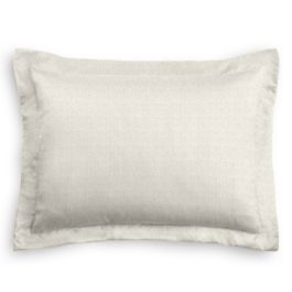 Flecked Light Gray Linen Sham